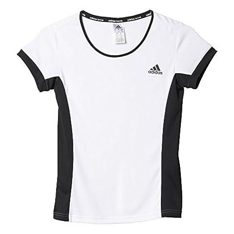 adidas Damen T-shirt Court Tee, Weiß/Schwarz, XL, 4055344325049