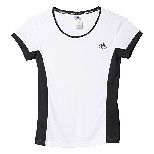 adidas Damen T-shirt Court Tee, Weiß/Schwarz, XL, 4055344325049 (Adidas Court Shirt)