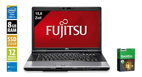 Fujitsu Lifebook E752 | Notebook | Laptop | 15,6 Zoll (1600x900) | Intel Core i5-3320M @ 2,6 GHz | 8GB DDR3 RAM | 250GB SSD | DVD-Brenner | Windows 10 Home (Zertifiziert und Generalüberholt) -