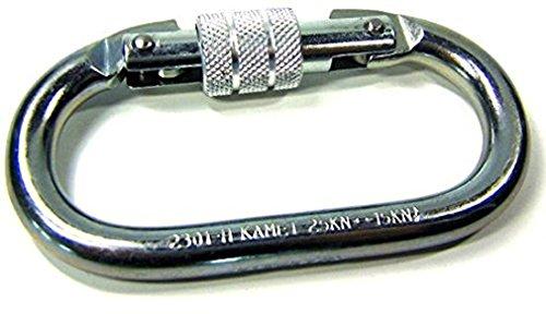 iapyx Sicherheitskarabiner Screw Karabiner Verschlusskarabiner Schraubkarabiner Screw-Lock Carabiner Personensicherung