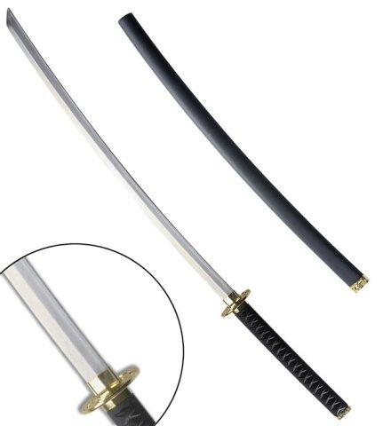 XXL Katana Ninja-Schwert 110cm Erwachsene Samurai-Schwert Säbel Waffe Spielzeug Schwarz Kostüm Zubehör (Ninja Schwert Kostüme)