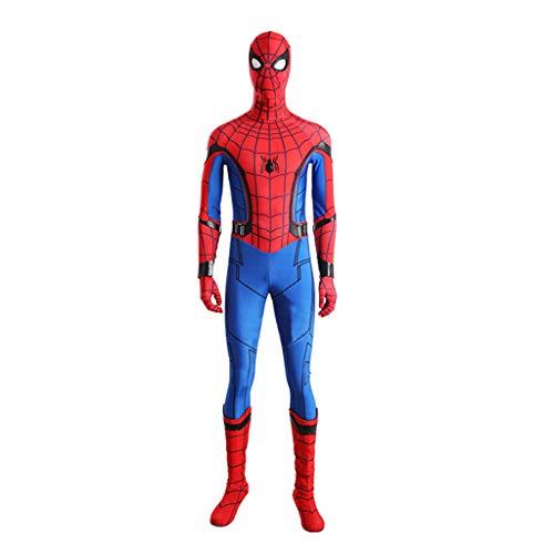 Spiderman Verkauf Für Kostüm Schwarzes - nihiug Spiderman Heroes Rückkehrkrieger Spider Man Erwachsene Kinder tragen Strumpfhosen Cosplay Halloween-Kostüm,Red-XXXL