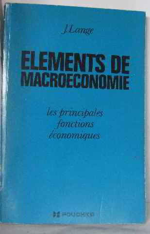 Elements de macroéconomie