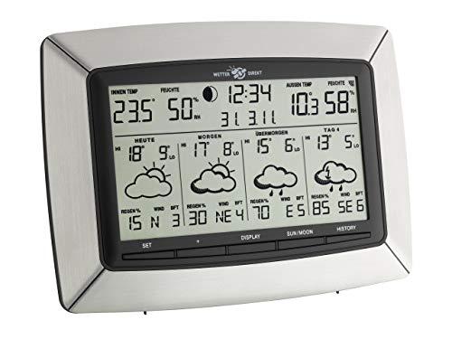 TFA Dostmann Tempus satellitengestützte Funk-Wetterstation, 35.5046, mit Wetterdirekt Technologie, Profi-Wetterprognose, Aufzeichung der Wetterdaten