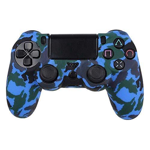 Funda de Silicona Carcasa para Mando Sony PS4/Slim/Pro Dualshock4 Camuflaje Azul