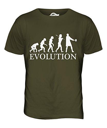 CandyMix Thors Hammer Evolution Des Menschen Herren T Shirt Khaki Grün