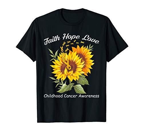 Faith Hope Love Childhood Cancer Awareness T-shirt -