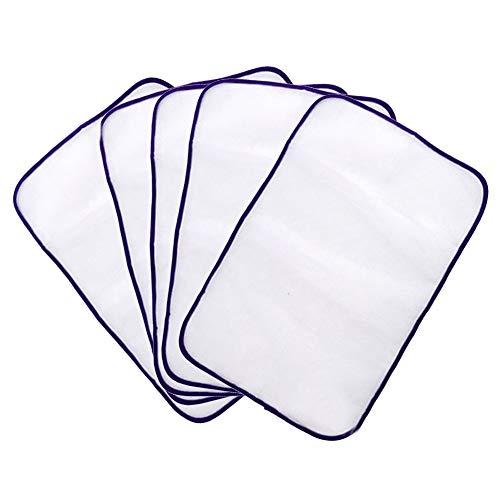 Ironing pad stiratura pad indumento da stiro panno di proteggere rilievi di ferro da stiro protettivo della protezione scorch isolamento mat resistente al calore in rete 5 pz (colore casuale)