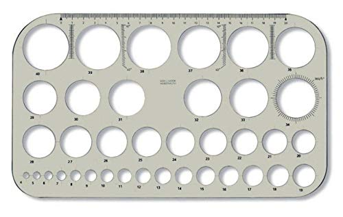 Koh-I-NOOR 074916100000Kreis Vorlage-Transparent Braun