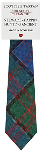 Boys All Wool Tie Woven And Made in Scotland in Stewart of Appin Hunting Ancient Tartan * Woven and made in Scotland * Pure wool for softness and comfort * Fully lined for shape and presentation * Choose from hundreds of beautiful tartans * Necktie l...