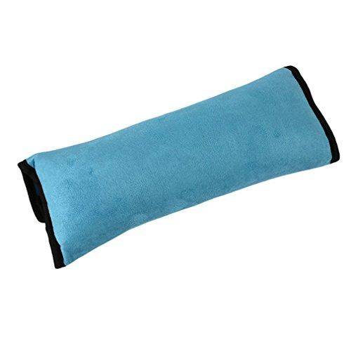 CAOLATOR Auto Sicherheitsgurt Schulterpolster Schlafkissen Schulterkissen Autositze Gurtpolster für Kinder Auto Baby Pillow Schulterschutz (Blau)