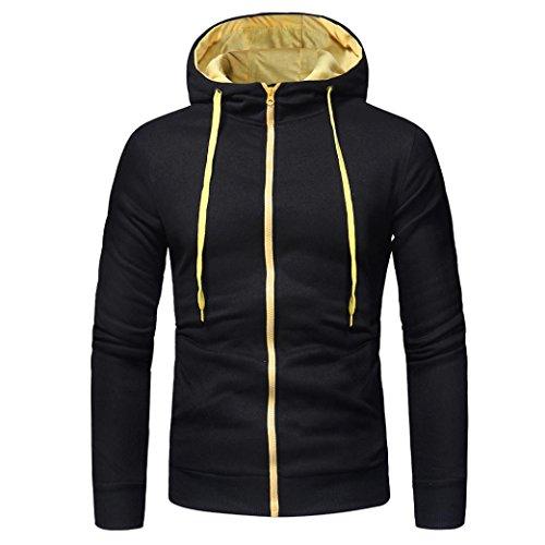 Herren kapuzenpullover,Honestyi Herren Langarm Hoodies Sweatshirt Tops Jacke Mantel Abnutzung kapuzenpullover (M, Schwarz 2) -