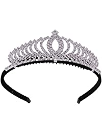 Rhinestones Love Hearts Design Crown Tiara Princess Headband Crowns Hair Accessories For Children Girls