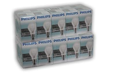 20 Stück - PHILIPS Glühlampe - Glühbirne Classic Bauform 100W 100Watt klar E27