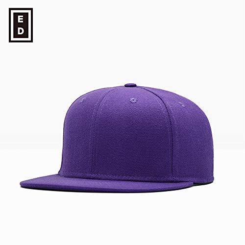 sdssup Gorra de béisbol Four Seasons para Hombre, Gorra Plana para Mujer, púrpura Ajustable