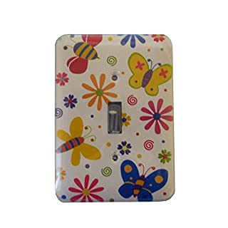 Butterfly Single Toggle Light Switch Cover by AmerTac
