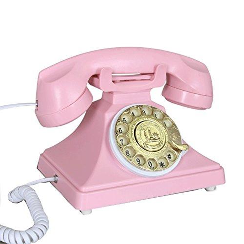 Unbekannt Telefon Altmodisches Telefon, europäisches Büro-Haushalts-antikes Band freihändig Metall drehen amerikanische Retro-...