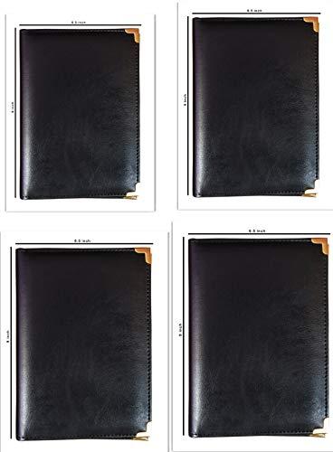 Royal Stationary Restaurant/Hotel Bills Holder (Black) - Set of 4