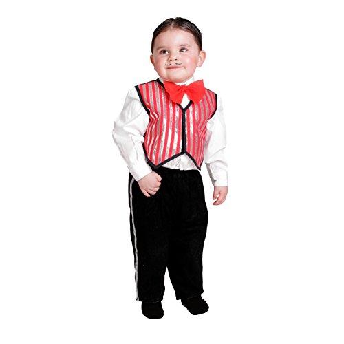 nil Nines d 'onil Export–Kostüm Baby Cabaretera, Rot und Schwarz (D9165) (Nine D's Kostüm)