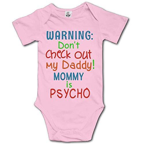 flys NMDJC CCQ Schauen Sie Sich Nicht Meine Papa Mama ist Psycho Baby Body Schöne Onesies Kurzarm Strampler Kostüm, - Baby Blue Bunny Kostüm