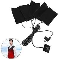 USB Elektrische Tuch Heizung, Fünf Tragbare Wasserdichte Faltbare Heizung Pads Einstellbare Temperatur Heizelement... preisvergleich bei billige-tabletten.eu