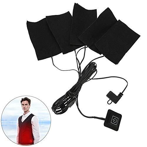 USB Elektrische Tuch Heizung, Fünf Tragbare Wasserdichte Faltbare Heizung Pads Einstellbare Temperatur Heizelement Wärmer Werkzeug