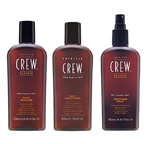 American Crew Daily Shampoo 250ml, Conditioner 250ml und Fellpflege Spray 250ml - American Crew Grooming Spray