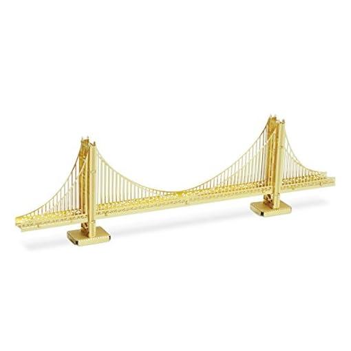 Fascinations-Metal-Earth-MMS001G-502561-Gate-Bridge-Goldenes-Modell-Konstruktionsspielzeug-1-Metallplatine-ab-14-Jahren