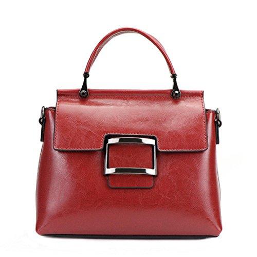 Damen Vintage Schultertasche Aus Weichem Leder Große Messenger Bags Damen Designer Shopper Tote Bag Weekend Aktentasche Red