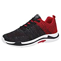 OULSEN Running Shoes For Men Breathable Mesh Non-slip Sports Shoes Lightweight Sneakers Men Casual Size 39-44