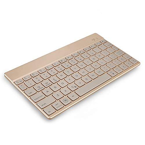10,1 Zoll Wireless Bluetooth-Tastatur Sieben-Farben-Hintergrundbeleuchtung, tragbare Tastatur für Microsoft, iPad, iPhone, Android-Geräte und Windows