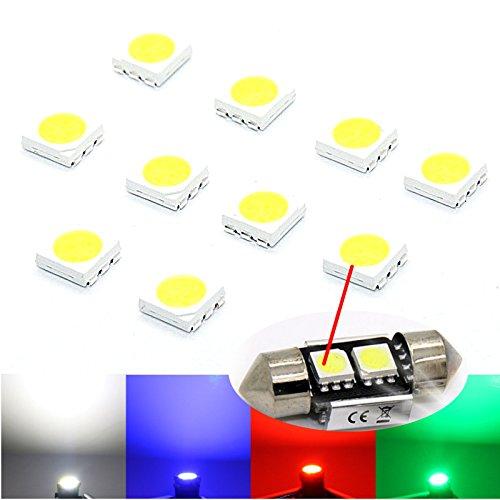 10x SMD LED 5050 Chip kalt HIGHPOWER - weiße SMD white blanch Diodes blau weiß rot stück (weiß)