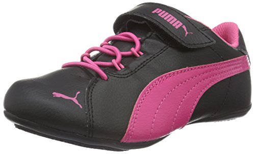 Puma Janine Dance 2 V PS, Baskets Basses Mixte Enfant, Noir-Schwarz (Puma Black-Fandango Pink 05), 35 EU
