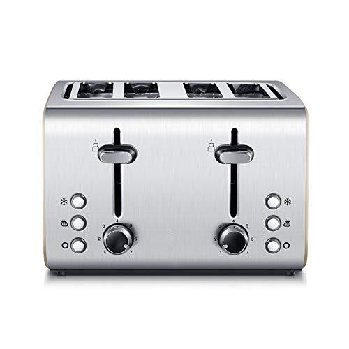 4 Scheibe Toaster, Glatt gebürstet Rostfreier Stahl Frühstück Maschine mit Stornieren Aufwärmen...