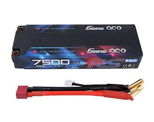Gens Ace 7500 mAh 7,6V High Voltage 100C 2S1P EFRA & BRCA Serie mit Black Hardcase Lipo47# -
