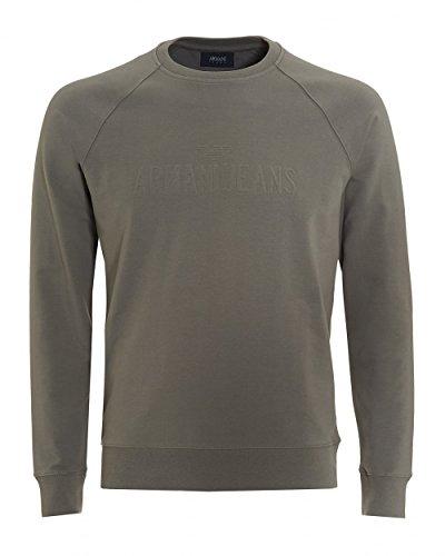 Armani Jeans Herren Sweatshirt 3Y6M086J0DZ Grau (blu Notte 1905) Medium