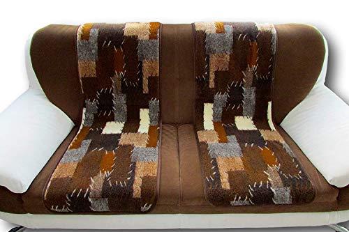 Alpenwolle Sesselschoner Patchwork Set 2 Teilig 50x200cm Couchschoner Sesselüberwurf Sitzauflage Überwurf Sesselauflage