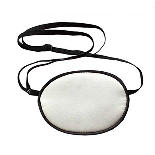 Amorar Erwachsene Piraten Augenklappe,Seide Augen Flecken behandeln Lazy Eye/Amblyopie/Strabismus EIN Patch, Augenmaske Beschattung Ebene für Erwachsene Faule Auge,EINWEG Verpackung - Maske 6 Behandlungen