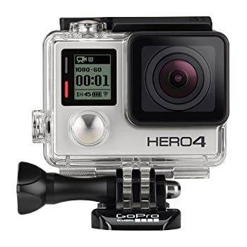 GoPro HERO4 Silver Edition Adventure - Videocámara deportiva (12 Mp, Wi-Fi, Bluetooth, sumergible hasta 40 m),  (versión alemana)