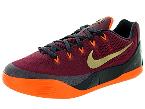 Nike Kids Kobe IX (GS) Basketball-Schuh, Rot - Deep Garnet/Metallic Gold - Größe: 22,5 EU M Großes Kind (Große Basketball Kinder Nike)