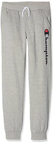 Champion Jungen Sport Leggings Rib Cuff Pants, Grau (Oxgm Em006), 16 Jahre (Herstellergröße: XX-Large)