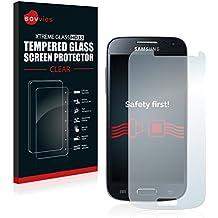 Savvies Film Protection Verre Trempé Samsung Galaxy S4 Mini LTE (4G) I9195 Film Vitre Protection Écran - Dureté 9H