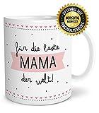 OWLBOOK Beste Mama große Kaffee-Tasse mit Spruch im Geschenkkarton geliefert schöne Geschenkidee Geschenke für Deine Mutti