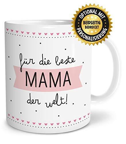 OWLBOOK Beste Mama Geschenk Tasse spülmaschinenfest Geschenkidee zum Muttertag Geburtstag Jahrestag Ostern Hochzeit Hochzeitstag für Familie Mutti Mutter