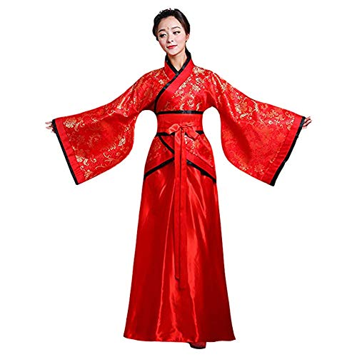 Meijunter Chinesisch Uralt Damen Hanfu - Traditionell Kostüm Elegant Retro Tang Suit Bühne Performance Kleid