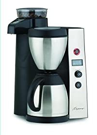 Capresso 455 CoffeeTEAM Therm Stainless Coffeemaker/Burr Grinder Combination