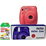 Fujifilm Instax Value Cam Mini 8 with 20 Films Shot (Raspberry)