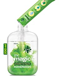 Godrej Protekt Mr. Magic Powder-to-Liquid Handwash Refill, (makes 200ml)+1 Empty Bottle