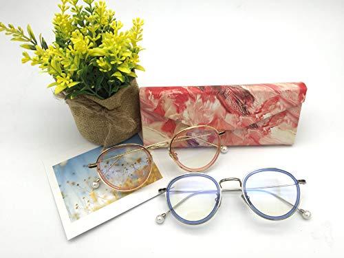Lindou Faltbare Dreieck Gläser Fall Sonnenbrille Fall Harte Brillen Fall (rot)