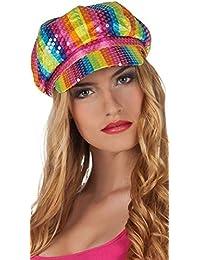Arc-en-ciel femmes Multicolore SEQUIN 1960s Gay Pride Festival Costume  déguisement carnaval chapeau 10f8efaf107